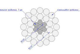 Сечение провода АС 315/51,3