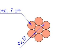 Сечение провода М 25