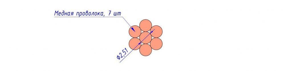 Сечение провода М 35