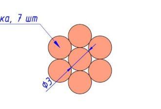 Сечение провода М 50