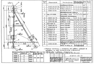 ОП5ДБ-5 - повышенная ответвительная деревянная опора ВЛ-0.4кВ