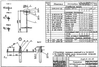 ПП6Д-5 - переходная промежуточная деревянная опора ВЛ-0.4кВ
