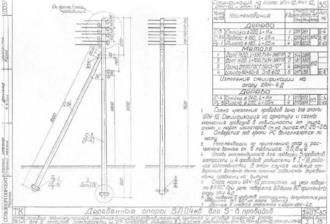 УПН-1Д - угловая промежуточная деревянная опора ВЛ-0.4кВ