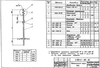 ПКД-5 - перекрестная деревянная опора ВЛ-0.4кВ