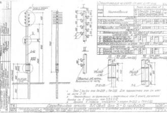 ПКН-2ДБ - перекрестная деревянная опора ВЛ-0.4кВ