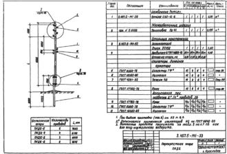 ПКДБ-5 - перекрестная деревянная опора ВЛ-0.4кВ