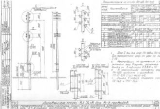 ПН-1ДБ - промежуточная деревянная опора ВЛ-0.4кВ