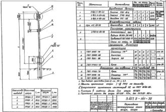 ПП3ДБ-5 - повышенная промежуточная деревянная опора ВЛ-0.4кВ