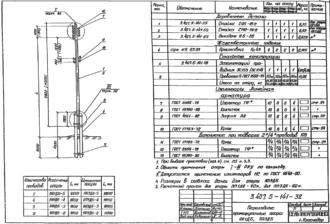 ПП1ДБ-5 - повышенная промежуточная деревянная опора ВЛ-0.4кВ