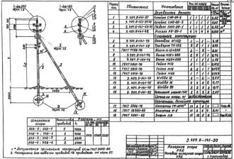 У5Д-5 - угловая анкерная деревянная опора ВЛ-0.4кВ