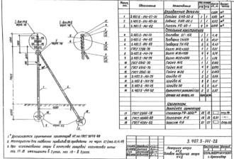 У4Д - угловая анкерная деревянная опора ВЛ-0.4кВ