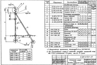 А3Д-5 - анкерная деревянная опора ВЛ-0.4кВ