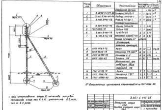 А2Д - анкерная деревянная опора ВЛ-0.4кВ