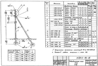 О3Д-5 - ответвительная деревянная опора ВЛ-0.4кВ