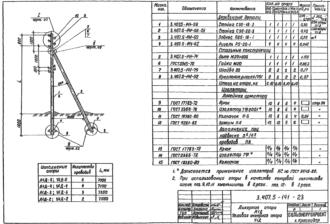 А1Д-5 - анкерная деревянная опора ВЛ-0.4кВ