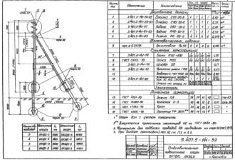 ОП1ДБ-5 - повышенная ответвительная деревянная опора ВЛ-0.4кВ