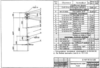 П4ДБ - промежуточная деревянная опора ВЛ-0.4кВ