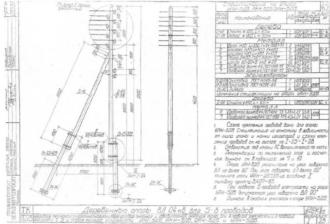 УАН-5ДБ - угловая анкерная деревянная опора ВЛ-0.4кВ