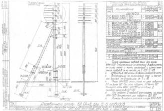 ОАН-5ДБ - анкерная ответвительная деревянная опора ВЛ-0.4кВ