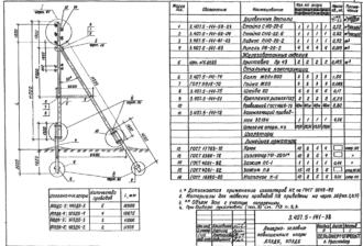 АП3ДБ-5 - повышенная анкерно-угловая деревянная опора ВЛ-0.4кВ