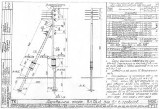 АКН-3ДБ - анкерная (концевая) деревянная опора ВЛ-0.4кВ