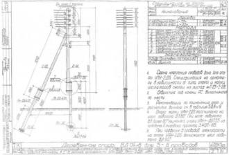 ОАН-2ДБ - анкерная ответвительная деревянная опора ВЛ-0.4кВ