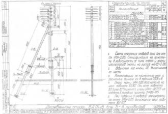 АКН-2ДБ - анкерная (концевая) деревянная опора ВЛ-0.4кВ