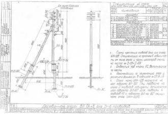 УАН-1ДБ - угловая анкерная деревянная опора ВЛ-0.4кВ