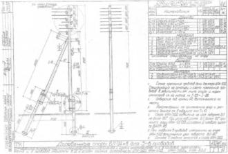 ОАН-5ДД - анкерная ответвительная деревянная опора ВЛ-0.4кВ