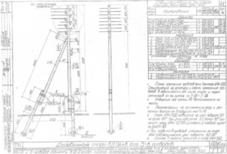 АКН-5ДД - анкерная (концевая) деревянная опора ВЛ-0.4кВ