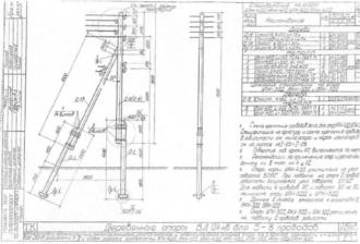 АКН-3ДД - анкерная (концевая) деревянная опора ВЛ-0.4кВ