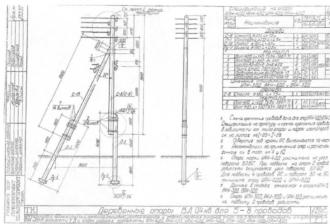 УАН-4ДД - угловая анкерная деревянная опора ВЛ-0.4кВ