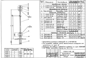 ПП5ДБ-5 - переходная промежуточная деревянная опора ВЛ-0.4кВ