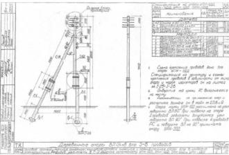 ОАН-1ДД - анкерная ответвительная деревянная опора ВЛ-0.4кВ