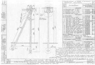 ОАН-2Д - анкерная ответвительная деревянная опора ВЛ-0.4кВ