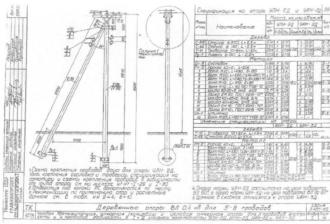 УАН-3Д - угловая анкерная деревянная опора ВЛ-0.4кВ