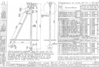 АКН-2Д - анкерная (концевая) деревянная опора ВЛ-0.4кВ