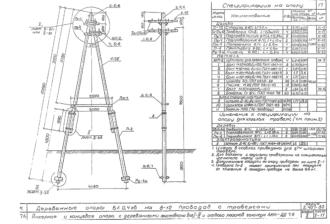 АКНт-ДД7.6 - двухцепная деревянная опора ВЛ-0.4кВ
