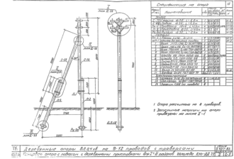 КНт-ДД7.2 - двухцепная деревянная опора ВЛ-0.4кВ