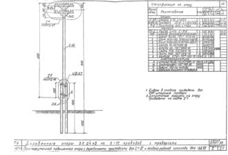 ПНт-ДД9.1 - двухцепная деревянная опора ВЛ-0.4кВ