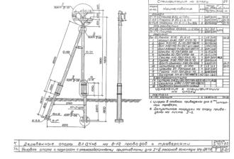 УНт-ДБ7.2 - двухцепная деревянная опора ВЛ-0.4кВ