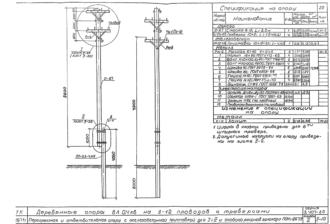 ПОНт-ДБ7.9 - двухцепная деревянная опора ВЛ-0.4кВ
