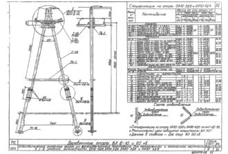 ОА20-4ДБ - одноцепная деревянная опора ВЛ-20кВ