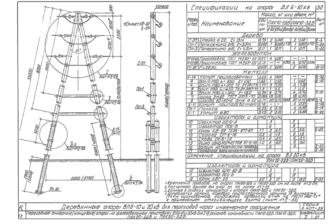 ПАК20-3ДБ - одноцепная деревянная опора ВЛ-20кВ