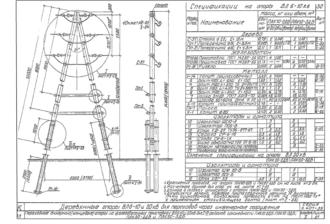 ПАК20-2ДБ - одноцепная деревянная опора ВЛ-20кВ