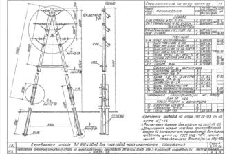 ПАК20-1ДБ - одноцепная деревянная опора ВЛ-20кВ