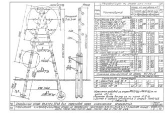 ПАК20-2ДД - одноцепная деревянная опора ВЛ-20кВ