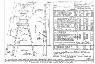 ПАК20-1ДД - одноцепная деревянная опора ВЛ-20кВ