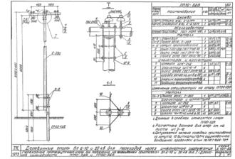 ПП20-5ДБ - одноцепная деревянная опора ВЛ-20кВ