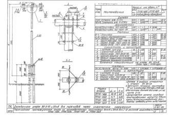 ПП20-2ДБ - одноцепная деревянная опора ВЛ-20кВ